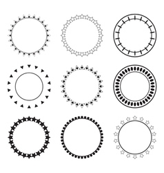 Set of round frames Decoration design elements vector image