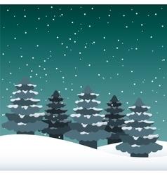 snowscape night background icon vector image