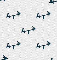 swing icon sign Seamless pattern with geometric vector image