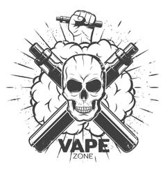Vintage Vape Label vector image