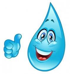 water drop cartoon vector image