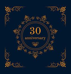 anniversary celebration card vector image