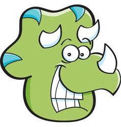 Cartoon Triceratops Head vector image