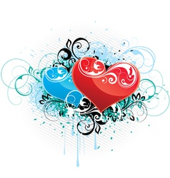 composition with hearts vector image vector image