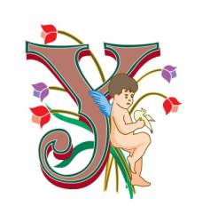 fairytale letter y vector image
