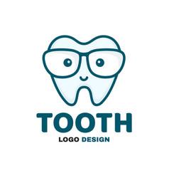 fun cute happy smart smiling tooth vector image
