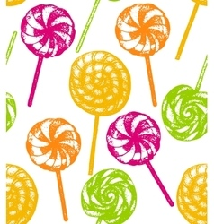 hand drawn lollipop background vector image