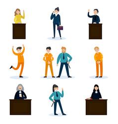 People in court set vector