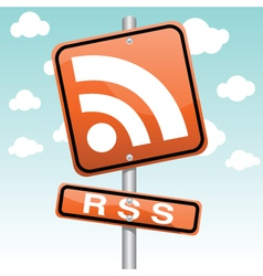 rss symbol vector image vector image