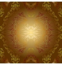 sepia golden vintage background pattern vector image
