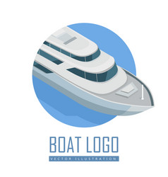 yacht icon in isometric projection vector image vector image