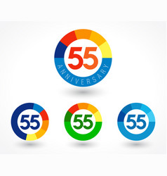 55 anniversary chart logo concept vector