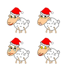 A funny Christmas sheep vector image
