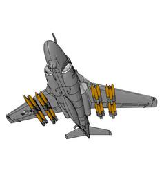 A warplane or slip fighter toy or color vector