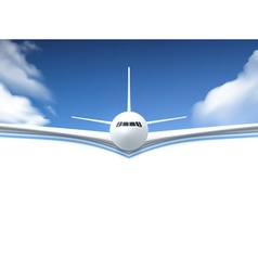 Airplane Realistic Poster vector