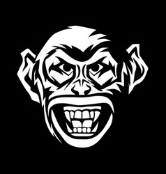 Angry monkey head vector