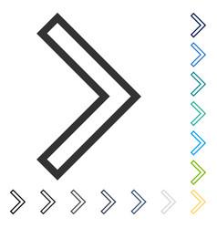 Arrowhead right icon vector