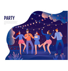birth day party vector image
