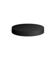 black cylinder 3d geometric shape mock up vector image