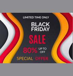 black friday sale up 80 percent off special offer vector image