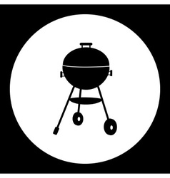 Black simple home garden grill isolated icon eps10 vector