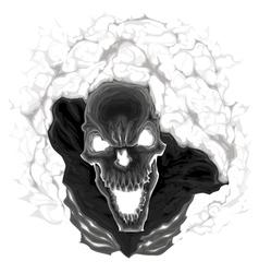 Black skeleton vector