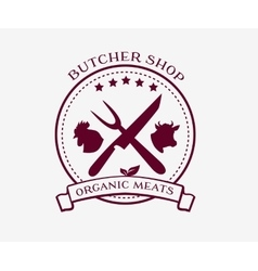 Butcher Shop Design Elements Labels Badges Logo vector image