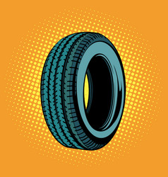 Car tire one vector