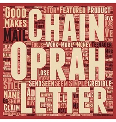 Chain of Fools text background wordcloud concept vector image