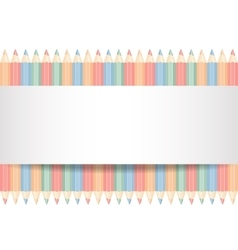 color pencils isolated vector image