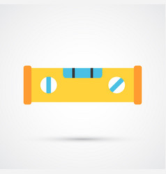 colored spirit level trendy symbol vector image