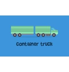 Container truck of art vector