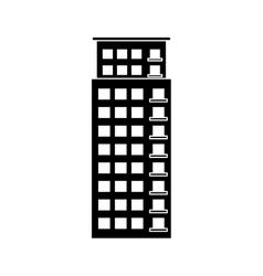 contour building line sticker image vector image
