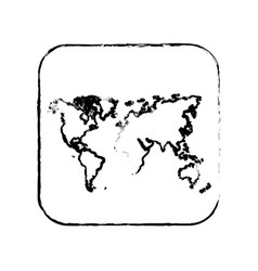 contour map earth planet icon vector image