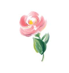 Cute spring watercolor flower rose art vector
