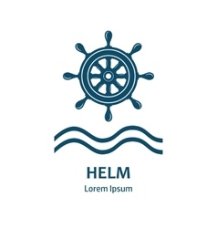 design logo with nautical helm vector image
