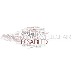 Disablement word cloud concept vector