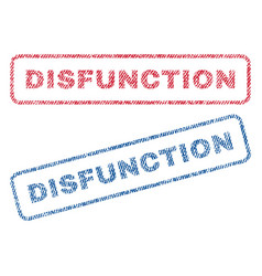 disfunction textile stamps vector image