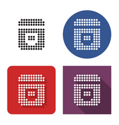 Dotted icon multicooker in four variants with vector