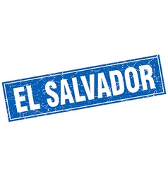 El Salvador blue square grunge vintage isolated vector