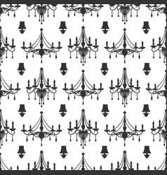 elegance crystal chandeliers seamless pattern vector image