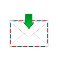 Envelope with incoming message sign flat icon vector image