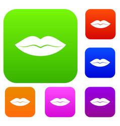 female lips set collection vector image