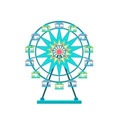 ferris wheel amusement park element vector image
