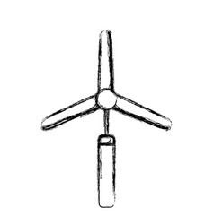 Figure industry windpower generator to ecology vector