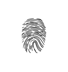 Fingerprint hand drawn outline doodle icon vector