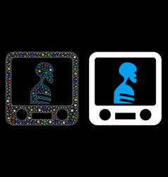 Flare mesh 2d xray screening icon with flare spots vector