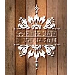 Floral save the date invitation card vector