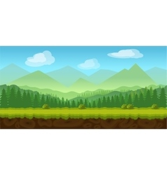 Forest game background 2d application vector