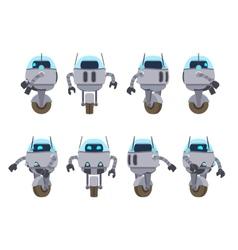 Futuristic robot vector